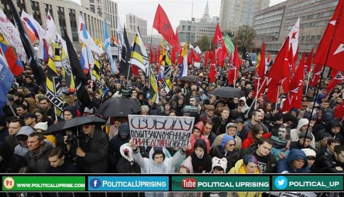 Protesters surrounded the Russian capital
