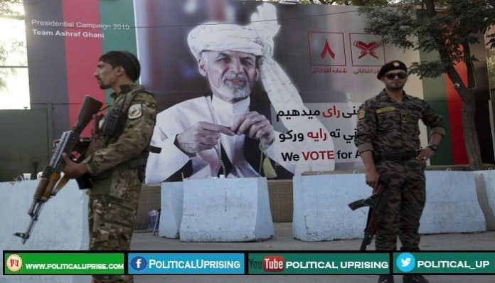 Police officers bolsters security as Taliban threatens Presidential Poll