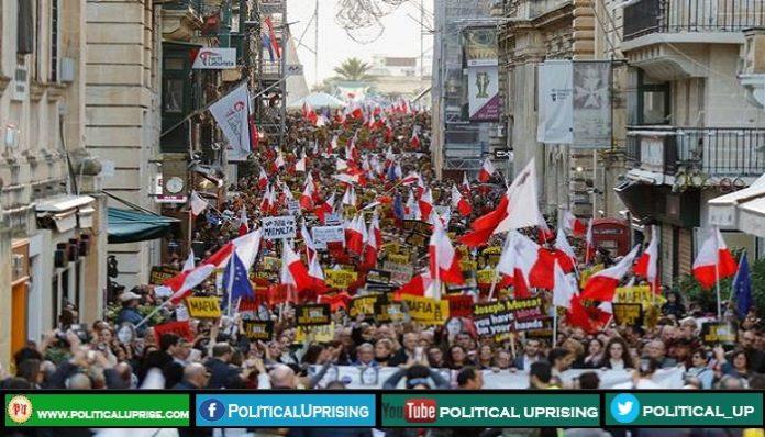 Malta Prime Minister office storm by activists demanding resignation