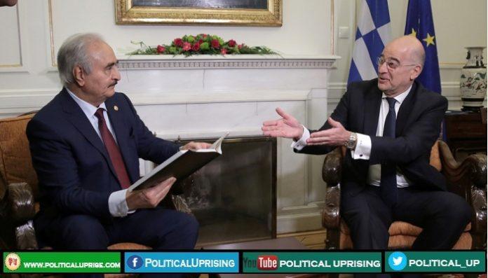 Khalifa Haftar holds meetings in Athens before Berlin peace summit