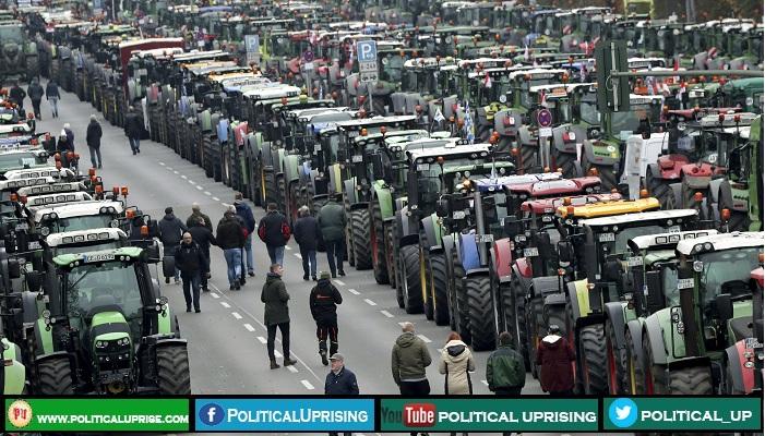Farmers protesters blocked Berlin roads :File Photo