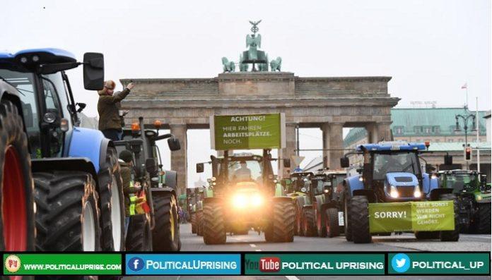 Farmers protesters blocked Berlin roads