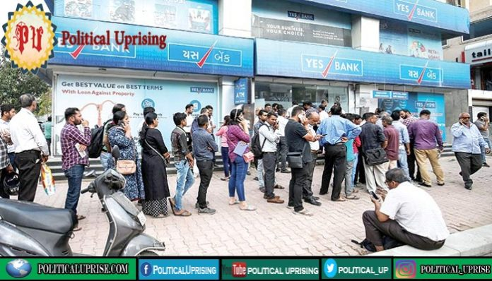 Yes bank plunges as depositors rush to withdraw funds