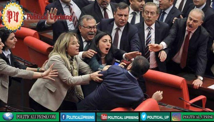 Turkish parliamentarians joins fistfight after MP criticises Erdogan