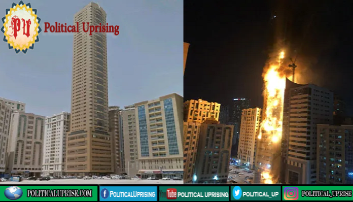 Sharjah residential tower fire wounded dozen