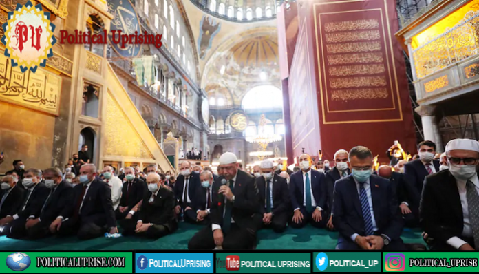 Muslim prayers held in the iconic Hagia Sophia for first time in 86 years