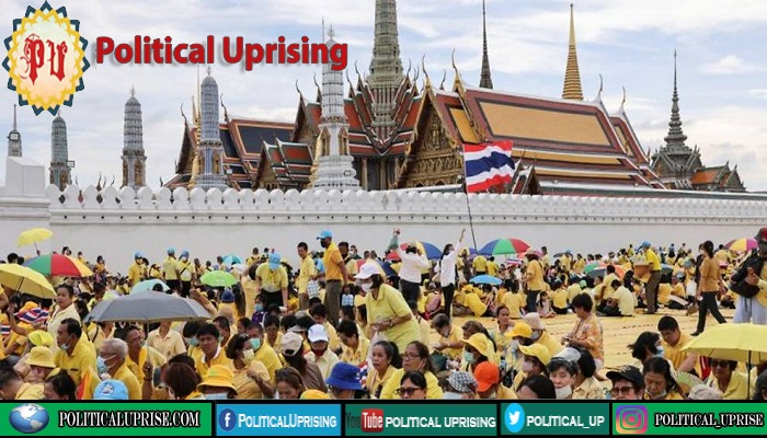 Many Thai royalists put on show of force for king