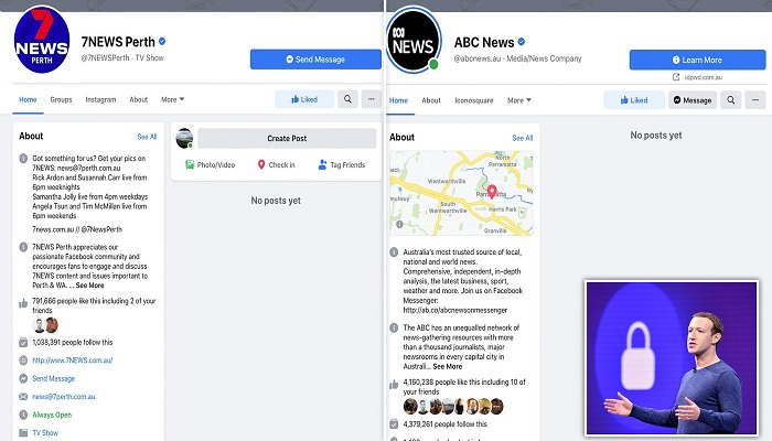 Facebook blocks Australia news pages in dispute over 'pay for news' law